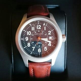 ハミルトン(Hamilton)のハミルトン手巻き腕時計 セイコー シチズン ティソ タイメックス好きな方へ(レザーベルト)