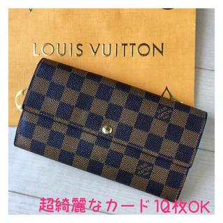 LOUIS VUITTON - ルイヴィトン 、ダミエの長財布❤️カード10枚仕様モデル😊