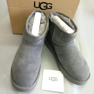 UGG - UGG/アグ/DAKOTA グレー モカシン ムートン 冬 超美品 24cm 暖