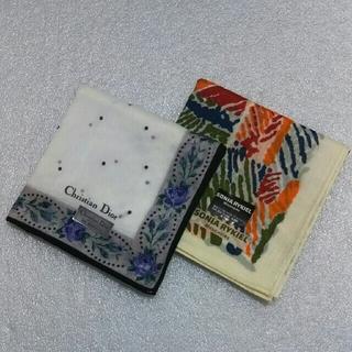 クリスチャンディオール(Christian Dior)のクリスチャンディオール&ソニアリキエル☆ハンカチ2枚セット(ハンカチ)