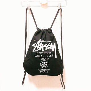 ステューシー(STUSSY)のSTUSSY ステューシー ナップサック 黒(バッグパック/リュック)