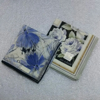 クリスチャンディオール(Christian Dior)のクリスチャンディオール&ジュンアシダ☆ハンカチ2枚セット(ハンカチ)