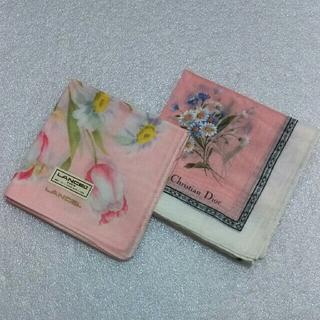 クリスチャンディオール(Christian Dior)のランセル&クリスチャンディオール☆ハンカチ2枚セット(ハンカチ)