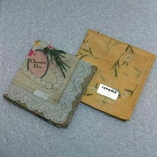 クリスチャンディオール(Christian Dior)のクリスチャンディオール&レノマ☆ハンカチ2枚セット(ハンカチ)