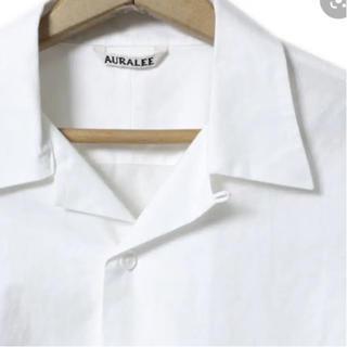 COMOLI - AURALEE セルビッジ ウェザークロス オープンカラーシャツ ホワイト