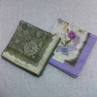 クリスチャンディオール(Christian Dior)のクリスチャンディオール&ユリエニタニ☆ハンカチ2枚セット(ハンカチ)