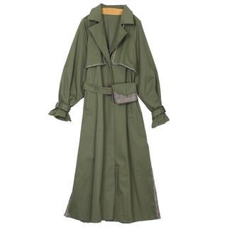 Ameri VINTAGE - *Ameri / reversible trench coat / khaki