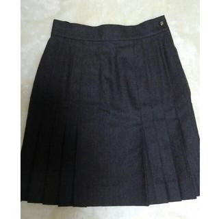 シャネル(CHANEL)のシャネル台形プリーツスカート(美品)(ミニスカート)