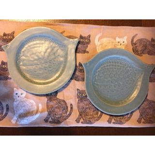 よしざわ窯 ブルーグレー 鳥皿 2枚セット