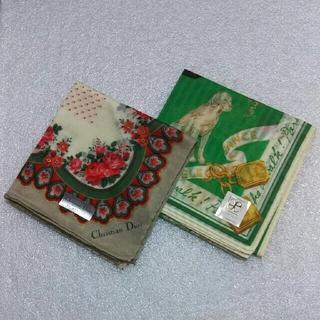 クリスチャンディオール(Christian Dior)のクリスチャンディオール&エレガンス☆ハンカチ2枚セット(ハンカチ)