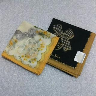 クリスチャンディオール(Christian Dior)の値下げ📌ニナリッチ&クリスチャンディオール☆ハンカチ2枚セット(ハンカチ)