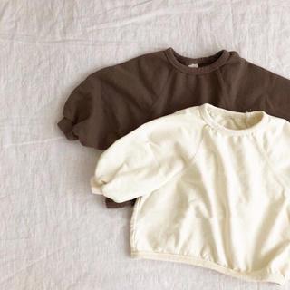 薄手 ホワイト オーバーサイズ  トップス シルエット可愛い♡80〜90