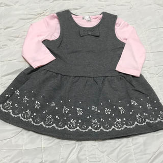 マザウェイズ(motherways)の新品未使用☆ マザウェイズ Tシャツ&ジャンパースカートセット 83cm(その他)