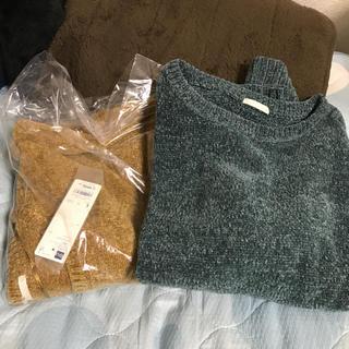 ジーユー(GU)のGU モールヤーンクルーネックセーター(長袖)(ニット/セーター)