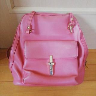セシルマクビー(CECIL McBEE)のCECIL McBEE 2way(リュック・ショルダー)バッグ ピンク(ショルダーバッグ)