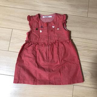 familiar - ファミリア  ジャンパースカート ワンピース