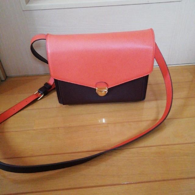 one*way(ワンウェイ)のONE WAY ショルダーバッグ オレンジ×ブラウン レディースのバッグ(ショルダーバッグ)の商品写真