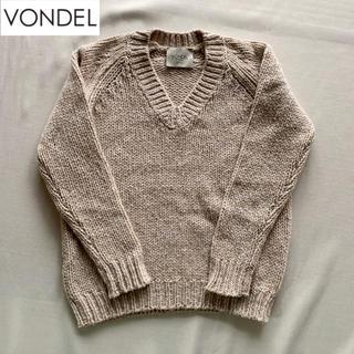 DEUXIEME CLASSE - VONDEL カシミヤ混 Vネックセーター ミックスカラー ベージュ S