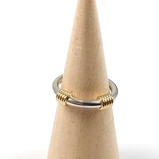 ティファニー(Tiffany & Co.)の希少 美品 ティファニー コンビ リング SV925 K18 VV33(リング(指輪))