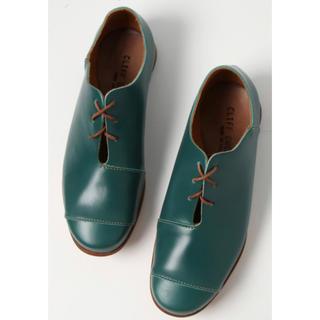 グリーン 緑 革靴 レザーシューズ(ローファー/革靴)