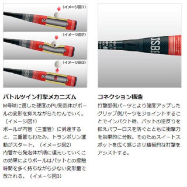ZETT(ゼット)の超高級品!ゼット 軟式用バトルツイン 84cm 730g 定価44,000円 スポーツ/アウトドアの野球(バット)の商品写真