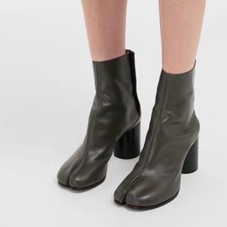 マルタンマルジェラ(Maison Martin Margiela)のマルジェラ 足袋ブーツ グリーン カーキ 36(ブーツ)