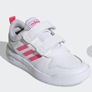 adidas - 未使用 adidas 子供用スニーカー 白×ピンク