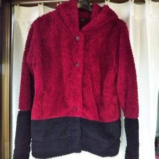 アズールバイマウジー(AZUL by moussy)のフード付きジャケットSサイズ(ニットコート)