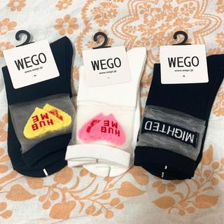 ウィゴー(WEGO)の【新品】ウィゴー ロゴ ソックス 靴下 シースルー WEGO(ソックス)