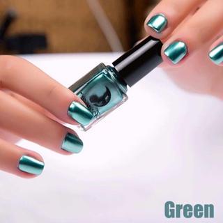 速乾!メタリックネイルカラー グリーン