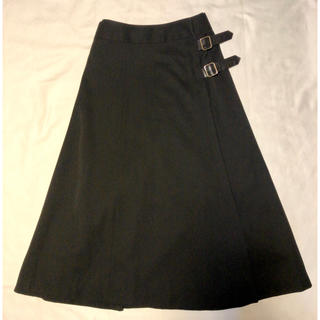 COMME des GARCONS - COMME des GARCONS コムデギャルソン ロングスカート ラップ 黒