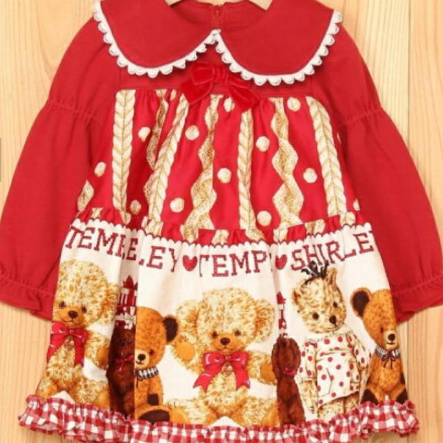 Shirley Temple(シャーリーテンプル)の今季 クマ くま ワンピース  キッズ/ベビー/マタニティのキッズ服女の子用(90cm~)(ワンピース)の商品写真