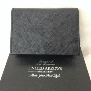 ユナイテッドアローズ(UNITED ARROWS)のユナイテッドアローズ 牛革 名刺入れ カードケース レザー フォーマル(名刺入れ/定期入れ)
