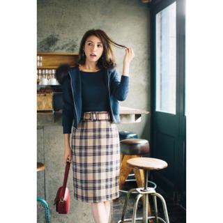 JUSGLITTY - 【JUSGLITTY】ベルト付きチェックタイトスカート