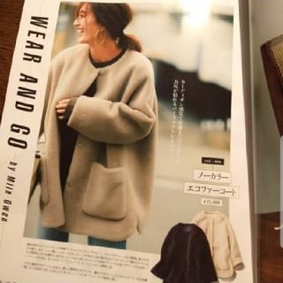 ミラオーウェン(Mila Owen)のミラオーエン 今期完売商品 ノーカラーシャツカーブボアジャケット(ノーカラージャケット)