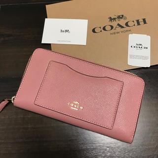 COACH - ★新品★COACH(コーチ)  ピンク レザー 長財布 箱付き