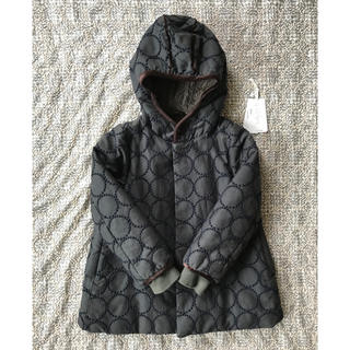 mina perhonen - ミナペルホネン キッズ120 人気フード付きタンバリン中綿コート