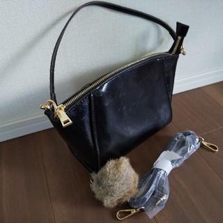 ナチュラルビューティーベーシック(NATURAL BEAUTY BASIC)のショルダーバッグ 黒 ハンドバッグ ブラック(ハンドバッグ)