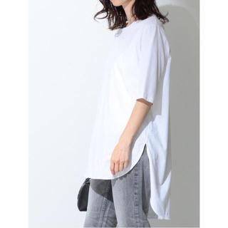Demi-Luxe BEAMS - ATON エイトン ラウンドヘム Tシャツ  5分袖