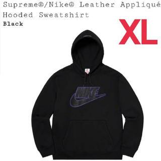 Supreme - Nike Leather Appliqué Hooded Sweatshirt