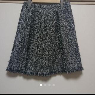 ロペ(ROPE)のロペ ツイードスカート(ひざ丈スカート)