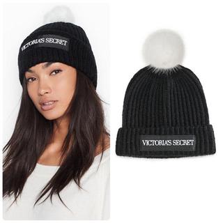 Victoria's Secret - 【新品】VS ロゴ ニット帽 ブラック