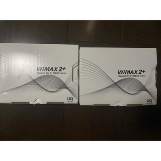 エヌイーシー(NEC)のモバイルWiFiルーター speed wi-fi NEXT WX04  二つ(その他)
