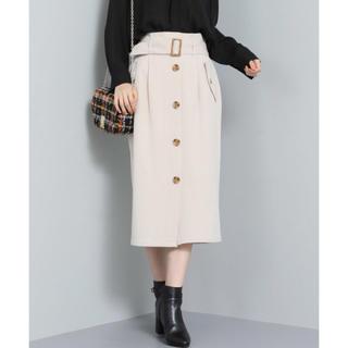 ViS - 【ViS】ベルト付きトレンチ Iラインスカート