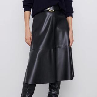 ZARA - 新品♡ZARA ベルト付きレザー風スカート