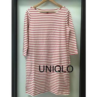 UNIQLO - ユニクロ ボーダーチュニックカットソー