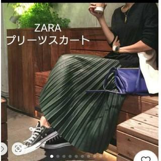 ZARA - 【ZARA】フェイクスエード ★ プリーツスカート