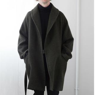 COMOLI - コモリ COMOLI ウール ショールカラー コート グリーン
