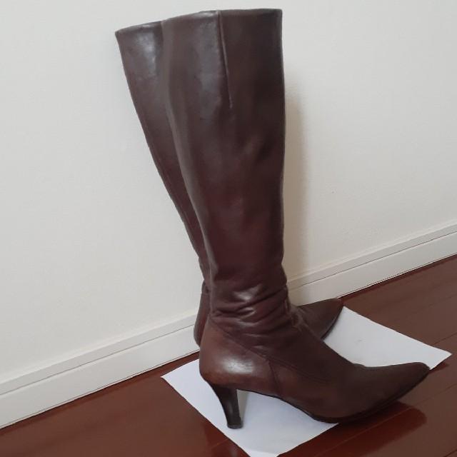 Bridget Birkin(ブリジットバーキン)のBridget Birkin茶色のロングブーツ レディースの靴/シューズ(ブーツ)の商品写真