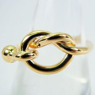 Tiffany & Co. - ティファニー 750YG フックアンドアイ リング 9号 [g112-5]